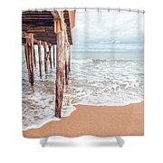 Under The Boardwalk Salsibury Beach Shower Curtain