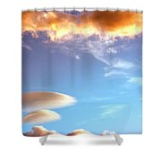 Under The Desert Sky Palm Springs Shower Curtain