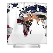 Under The Eagles Eyes Shower Curtain