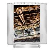 Under The Golden Bridge Shower Curtain