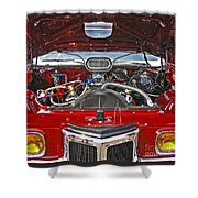 Under The Hood Shower Curtain