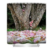 Under The Magnolia Tree Shower Curtain