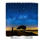 Under The Milky Way II Shower Curtain