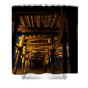 Under The Pier At Night Shower Curtain