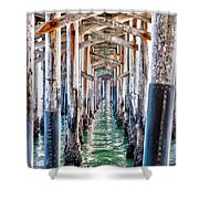 Under The Pier Shower Curtain