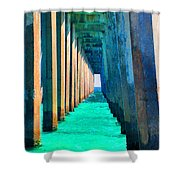 Under The Pier Too Shower Curtain