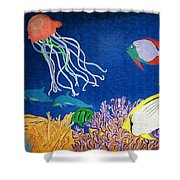 Under The Sea Mural 1 Shower Curtain