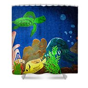 Under The Sea Mural 2 Shower Curtain
