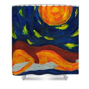 Under The Sky Shower Curtain