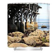 Under The Steinbeck Plaza Overlooking Monterey Bay On Monterey Cannery Row California 5d25050 Shower Curtain