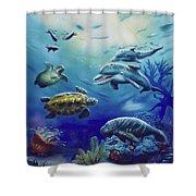 Under Water Antics Shower Curtain