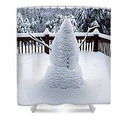 Undercover Snowman Shower Curtain