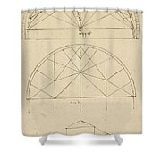 Underdrawing For Building Temporary Arch Shower Curtain