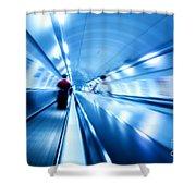 Underground Motion Shower Curtain