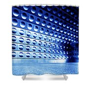 Underground Train Dynamic Motion Shower Curtain