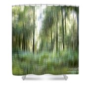 Undergrowth In Spring.  Shower Curtain