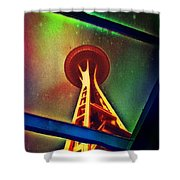 Underneath The Space Needle Shower Curtain