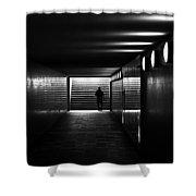 Underpass Berlin Shower Curtain