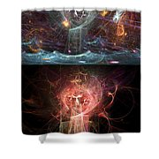 Undersea Angels Red Shower Curtain