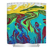 Undersea Shadows Shower Curtain
