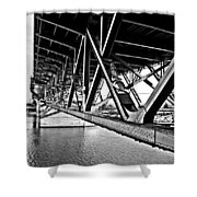 Underside Of The Burnside Bridge Shower Curtain