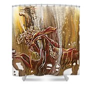 Undertake Shower Curtain by Karina Llergo