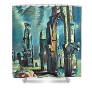 Underwater Cathedral By Chris Shower Curtain