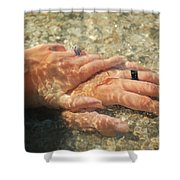 Underwater Hands Shower Curtain