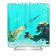 Underwater Photography Shower Curtain
