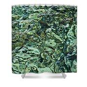 Underwater Rocks - Adriatic Sea Shower Curtain