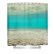 Underwater Sand Beach Shower Curtain
