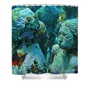 Underwater Tourists Shower Curtain