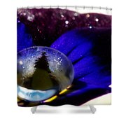 Underwater Universe Unfolding Shower Curtain