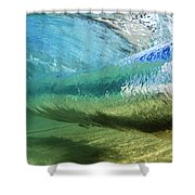 Underwater Wave Curl Shower Curtain by Vince Cavataio - Printscapes