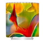 Underwater Welcome Shower Curtain by Omaste Witkowski
