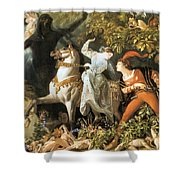 Undine And The Wood Demons Shower Curtain