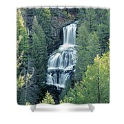 109008-undine Falls In Yellowstone Shower Curtain