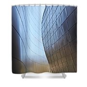 Undulating Steel Shower Curtain by Rona Black