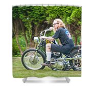 Uneasy Rider Shower Curtain