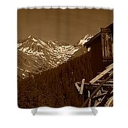 Unending Views In Sepia Shower Curtain