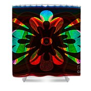 Unequivocal Truths Abstract Symbols Artwork Shower Curtain