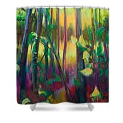 Unexpected Path - Through The Woods Shower Curtain