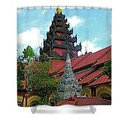 Unfinished Temple In Tachilek-burma Shower Curtain