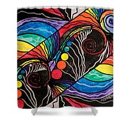 Unfold Shower Curtain by Teal Eye  Print Store