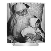 Unhappy Santa Claus Shower Curtain