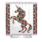Unicorn Horse Showcasing Navinjoshi Gallery Art Icons Buy Faa Products Or Download For Self Printing Shower Curtain