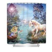 Unicorns Lake Shower Curtain