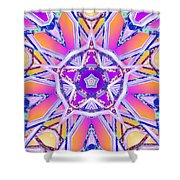 Uninhibited Vitality Shower Curtain by Derek Gedney