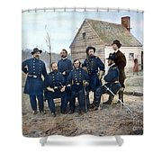 Union Army Surgeons, 1865 Shower Curtain