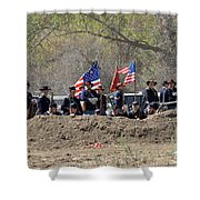 Union Artillery Embankment Shower Curtain